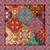 Modèle sans couture avec les tuiles portugaises dans le style de talavera Azulejo, Marocain, ornements mexicains illustration libre de droits