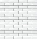 Modèle sans couture avec les tuiles rectangulaires modernes de blanc de brique Texture horizontale réaliste Illustration de vecte illustration libre de droits