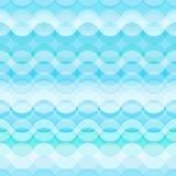 Modèle sans couture avec les vagues bleues stylisées Image libre de droits