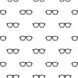 Modèle sans couture avec les verres noirs de hippie Image stock