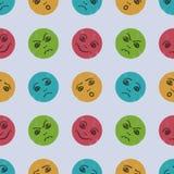 Modèle sans couture avec les visages comiques de bande dessinée drôle Dessin du ` s d'enfants Illustration de vecteur illustration de vecteur