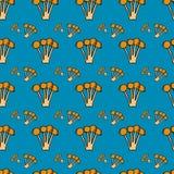 Modèle sans couture avec mushrooms-2 Image libre de droits