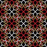 Modèle sans couture avec un modèle des anneaux reliés Chaîne continue des formes illustration libre de droits