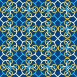Modèle sans couture avec un modèle des anneaux reliés Chaîne continue des formes illustration stock