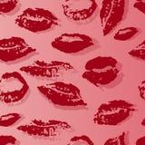 Modèle sans couture avec une copie des lèvres femelles illustration de vecteur