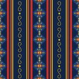 Modèle sans couture aztèque coloré Ornement géométrique ethnique illustration stock