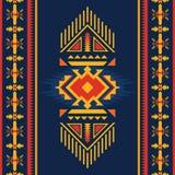 Modèle sans couture aztèque coloré Ornement géométrique ethnique illustration libre de droits
