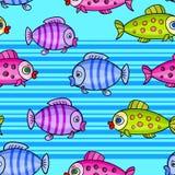 Modèle sans couture background7-01 de poissons Photographie stock
