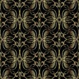 Modèle sans couture baroque du style 3d de broderie T modelé par vecteur Illustration Libre de Droits
