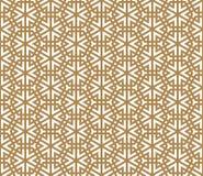 Modèle sans couture basé sur l'ornement japonais Kumiko Image stock
