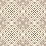 Modèle sans couture basé sur l'ornement japonais Kumiko Couleur d'or illustration stock