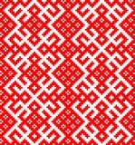 Modèle sans couture basé sur l'ornement traditionnel russe et de slavic Image stock