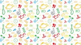 Modèle sans couture blanc de vecteur Texture d'icônes de tableau de bord de voiture Répétition des signes de code de dtc Coloré,  Photographie stock