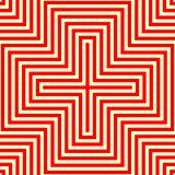 Modèle sans couture blanc rouge rayé Lignes angulaires fond de répétition abstraite de texture illustration stock