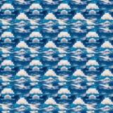 Modèle sans couture bleu céleste abstrait Fond de Skiey Photos libres de droits
