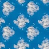 Modèle sans couture bleu céleste abstrait Fond de Skiey Photographie stock