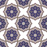 Modèle sans couture bleu coloré mignon de mandala Image libre de droits