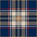 Modèle sans couture bleu de plaid de tartan illustration stock