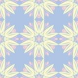 modèle sans couture bleu floral Fond coloré avec les éléments beiges et roses Image stock