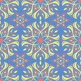 modèle sans couture bleu floral Fond lumineux avec les éléments colorés de fleur Photographie stock