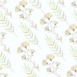 Modèle sans couture botanique coloré en pastel Main Illustration Libre de Droits