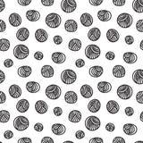 Modèle sans couture - boules de fil Photo stock