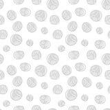 Modèle sans couture - boules de fil Images libres de droits
