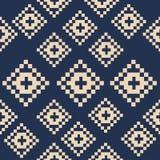 Modèle sans couture carré dans le style d'art de pixel Image stock