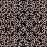 Modèle sans couture celtique dans le style médiéval Embrouillement blanc sur le noir Images stock