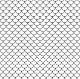 Modèle sans couture chinois géométrique d'échelles de poissons Fond onduleux de tuile de toit pour la conception Texture élégante Photo libre de droits