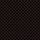 Modèle sans couture chinois géométrique d'échelles de poissons Fond onduleux de tuile de toit pour la conception Texture élégante Photos libres de droits