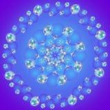 Modèle sans couture circulaire avec les bulles de savon abstraites colorées illustration stock