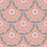 Modèle sans couture circulaire floral stylisé dans le style oriental Photographie stock