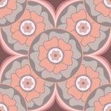 Modèle sans couture circulaire floral stylisé dans le style oriental Illustration de Vecteur