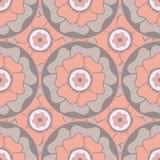 Modèle sans couture circulaire floral stylisé dans le style oriental Illustration Stock