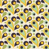 Modèle sans couture coloré abstrait avec la baisse, formes rondes plat Photo libre de droits