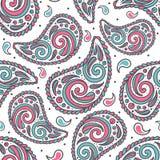 Modèle sans couture coloré abstrait de Paisley sur un contexte blanc illustration de vecteur