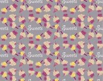 Modèle sans couture coloré avec des bonbons à fruit Images libres de droits