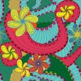 Modèle sans couture coloré avec les éléments floraux Image stock