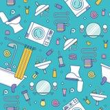 Modèle sans couture coloré d'équipement de Bath Image libre de droits