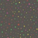 Modèle sans couture coloré d'étoile Photo libre de droits