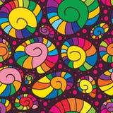 Modèle sans couture coloré d'escargot Images libres de droits