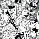 Modèle sans couture coloré de graffiti illustration de vecteur