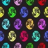 Modèle sans couture coloré de Pâques Photo libre de droits