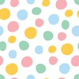 Modèle sans couture coloré de point de polka illustration libre de droits