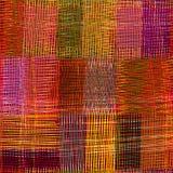 Modèle sans couture coloré de tissu d'armure Photo libre de droits