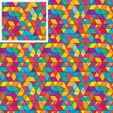Modèle sans couture coloré de triangle de boîte d'hexagone illustration stock