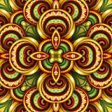 Modèle sans couture coloré de tuile, kaléidoscope fantastique Image libre de droits