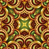 Modèle sans couture coloré de tuile, kaléidoscope fantastique Photos stock