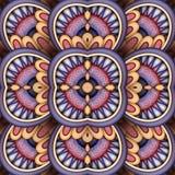 Modèle sans couture coloré de tuile, kaléidoscope fantastique Photographie stock libre de droits